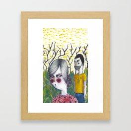 Forest Couple Framed Art Print