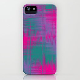 Magenta and Teal Green iPhone Case
