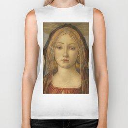 "Sandro Botticelli ""The Virgin and Child with Saint John and an Angel"" The Virgin Biker Tank"