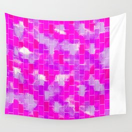 BRICK WALL SMUDGED (Purples, Violets & Fuchsias) Wall Tapestry
