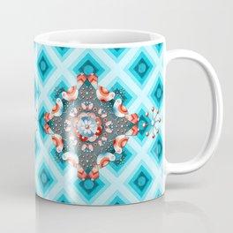 Folkloric Lovebirds Ombre Coffee Mug