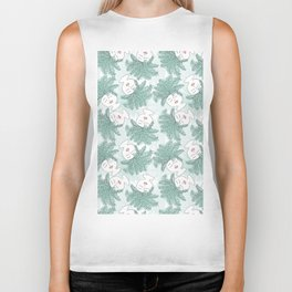 Fern-tastic Girls in Sage Green Biker Tank