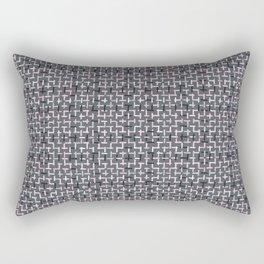 Criss Cross Weave Hand Drawn Vector Rectangular Pillow