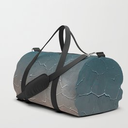 Modern  Textured  Atlantic Blue Abstract Duffle Bag