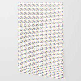 '80s hearts (larger) - Back to Basics Wallpaper
