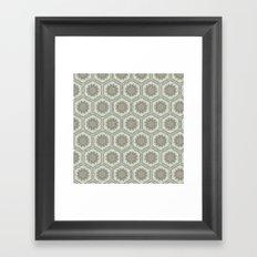 Hexaflower Framed Art Print