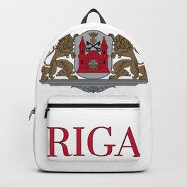 Riga Latvia Coat of Arms Backpack