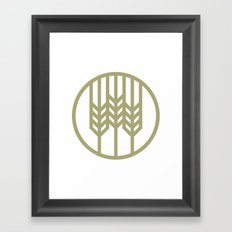 Wheat Circle Graphic Framed Art Print