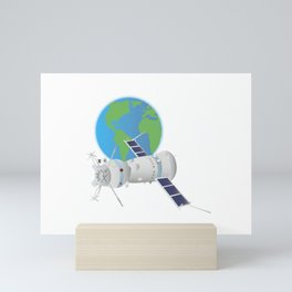 Soyuz Spacecraft in Space Mini Art Print