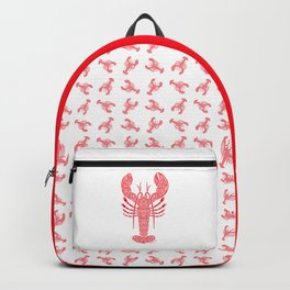 Tribal Maine Lobster on White Backpack