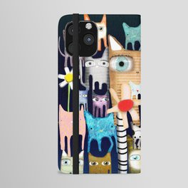 Bunch of Cats iPhone Wallet Case