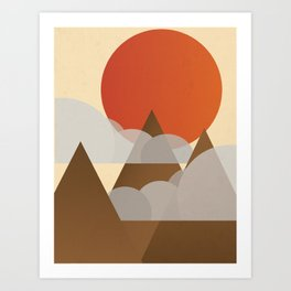 Mountain & Sun Art Print