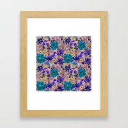 Elizabeth Floral Mauve Framed Art Print