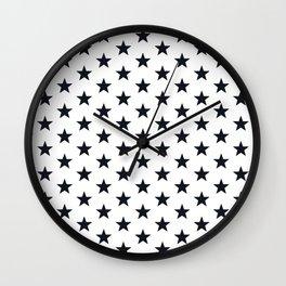 Superstars Black on White Medium Wall Clock