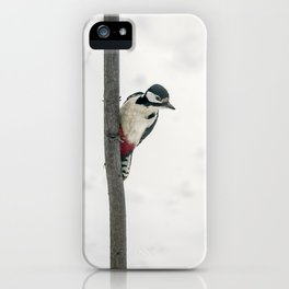 Knock, knock. Who's There? Woodpecker! iPhone Case