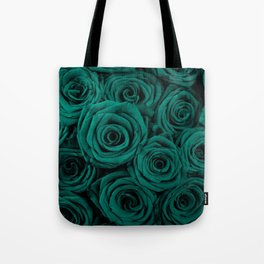 emerald green roses Tote Bag