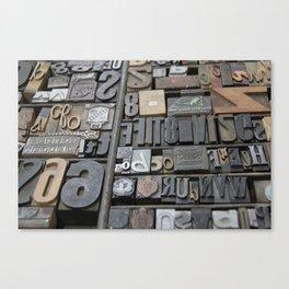 Typeface  Canvas Print