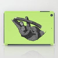 newspaper iPad Cases featuring Newspaper Sloths by Doolin