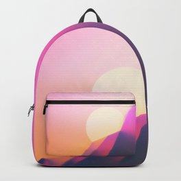 Sun Desert Mountain Sky Backpack