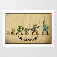 The Evolution of Link Art Print