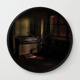 Tainted Piano Wall Clock