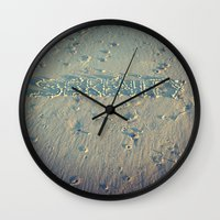 serenity Wall Clocks featuring Serenity by Brianne Lanigan
