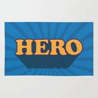 hero Area & Throw Rugs featuring Hero by Word Quirk