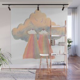 Cloud pink Wall Mural