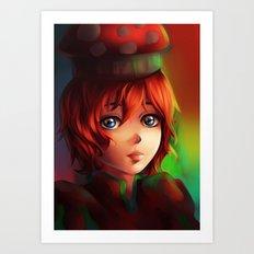 Bell Mushroom Art Print