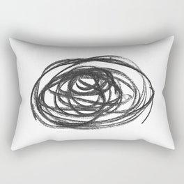 Scribble Circle Rectangular Pillow