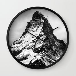 matterhorn switzerland mountain Wall Clock