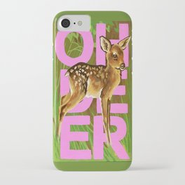 Vintage Paint By Number PBN Baby Oh Deer iPhone Case