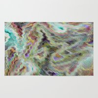 monet Area & Throw Rugs featuring Monet Style Pastel Abstract by David Pyatt