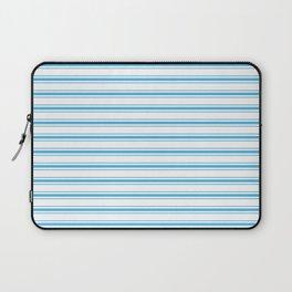 Oktoberfest Bavarian Blue and White Large Mattress Ticking Stripes Laptop Sleeve