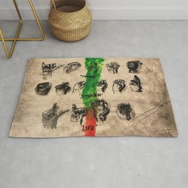 thug,stoner,young,life,slime language,music,rap,album art,fan art,cool,wall art,poster,painting Rug