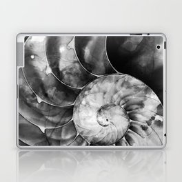 Black And White Nautilus Shell By Sharon Cummings Laptop & iPad Skin