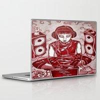 internet Laptop & iPad Skins featuring Internet Girl by Yukska