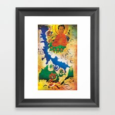 Sun Wukong Confronts Buddha Framed Art Print