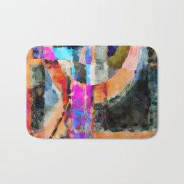 Artful Spirit Mosaic Colorful Geometric Abstract Bath Mat