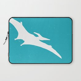 Pterodactyl Dinosaur Turquoise Blue Laptop Sleeve