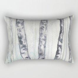 Birch landscape Rectangular Pillow