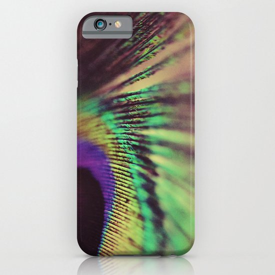 Peacock feather macro iPhone & iPod Case