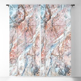 Multi Color Marble Blackout Curtain