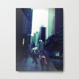 Rainy Day New York City Metal Print