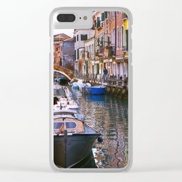 Along a Venetian Canal Clear iPhone Case