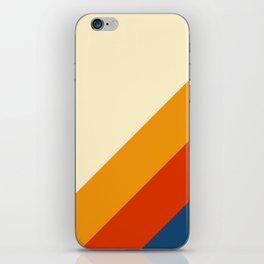Retro Lines Diagonal iPhone Skin