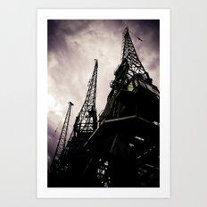 Industrial Action Art Print