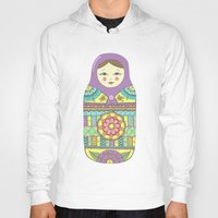 russian Hoodies featuring Russian Doll by haleyivers