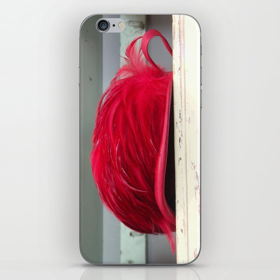 Red Deco Hat iPhone & iPod Skin