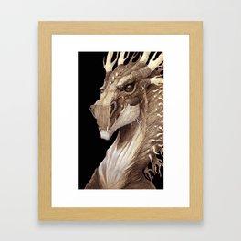 Dragon Portrait Framed Art Print